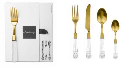 BACI MILANO - First Class Bestickset, 24 st - Guld