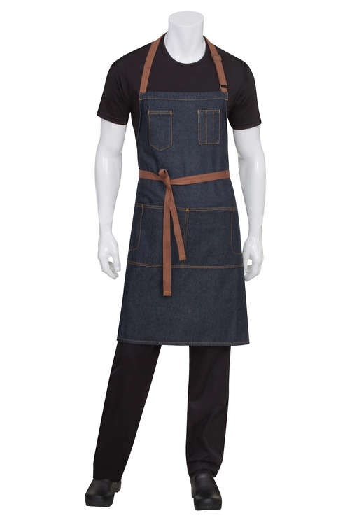 CHEF WORKS - MEMPHIS Adjustable BiB Förkläde - Indigo Blue
