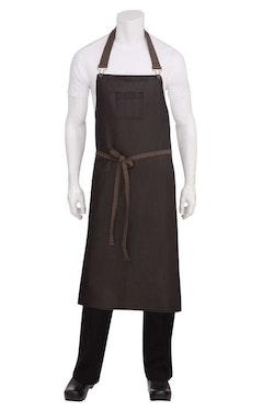 CHEF WORKS - BOULDER Chef's BIB Förkläde - Svartbrun/Svartlila