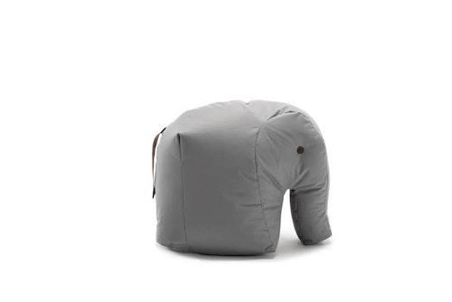 SITTING BULL - HAPPY ZOO CARL Sittsäck - Elefant - Gråbrun/Ljusblå