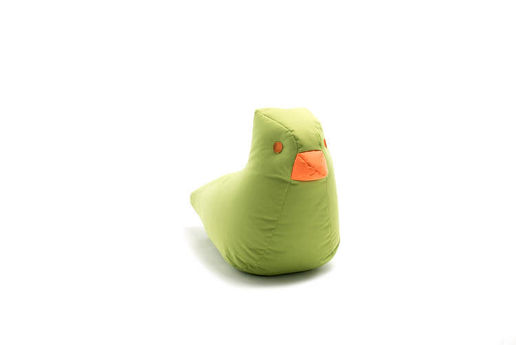 SITTING BULL - HAPPY ZOO FINE Sittsäck - Fågel - Mörkblå/Grön