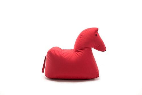 SITTING BULL - HAPPY ZOO LOTTE Sittsäck - Häst - Röd/Ljusblå/Rosa/Brun
