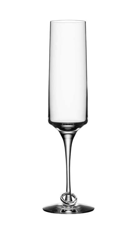 Orrefors - Amor Vincit Omnia Champagneglas 2-pack