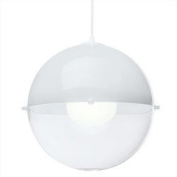 Koziol - Taklampa Orion plast- crystal clear/cotton white