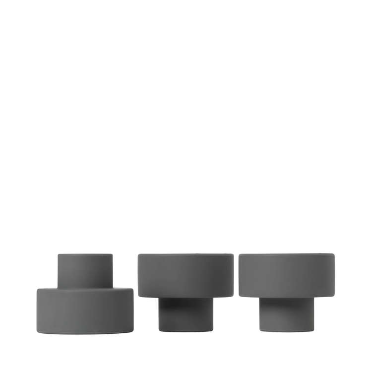 BLOMUS TRIO Set/3 ljushållare - Gunmetal