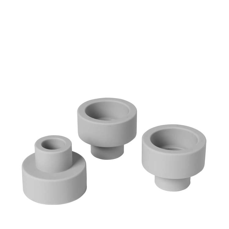 BLOMUS TRIO Set/3 ljushållare - Mirage Grey
