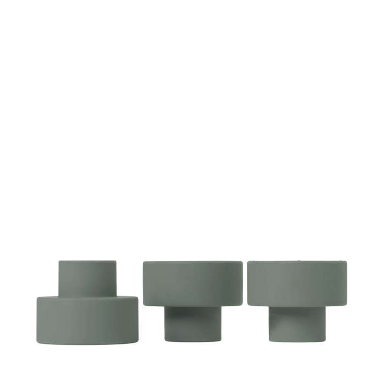 BLOMUS TRIO Set/3 ljushållare - Agave Green