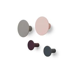 BLOMUS PONTO Väggkrokar Set/4 - Rose Dust, Elephant Skin, Winetasting, Gunmetal