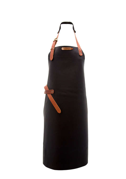 XAPRON Montana Skinnförkläde - Black