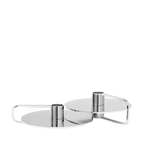 BLOMUS CASTEA Set med 2 st ljusstakar - Silver