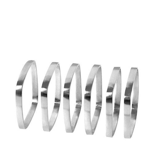 BLOMUS FINO Servettringar - Silver/Svart