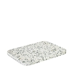 BLOMUS OMEO Bricka 20 cm - Terrazzo, Vit/Grå/Vit/Svart