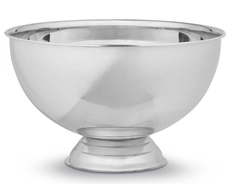 BASTIAN - Champagneskål i blankt stål - 38 cm