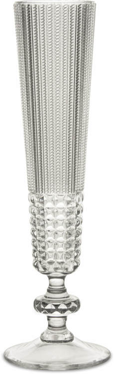 BACI MILANO - Chic & Zen Flute Champagneglas Akryl - Clear 6-pack
