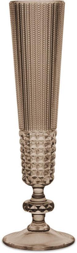 BACI MILANO - Chic & Zen Flute Champagneglas Akryl - Wood 6-pack
