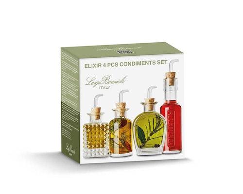 Luigi Bormioli - Elixir flaska med serveringspropp set 4 delar - 3X10/12,5 cl
