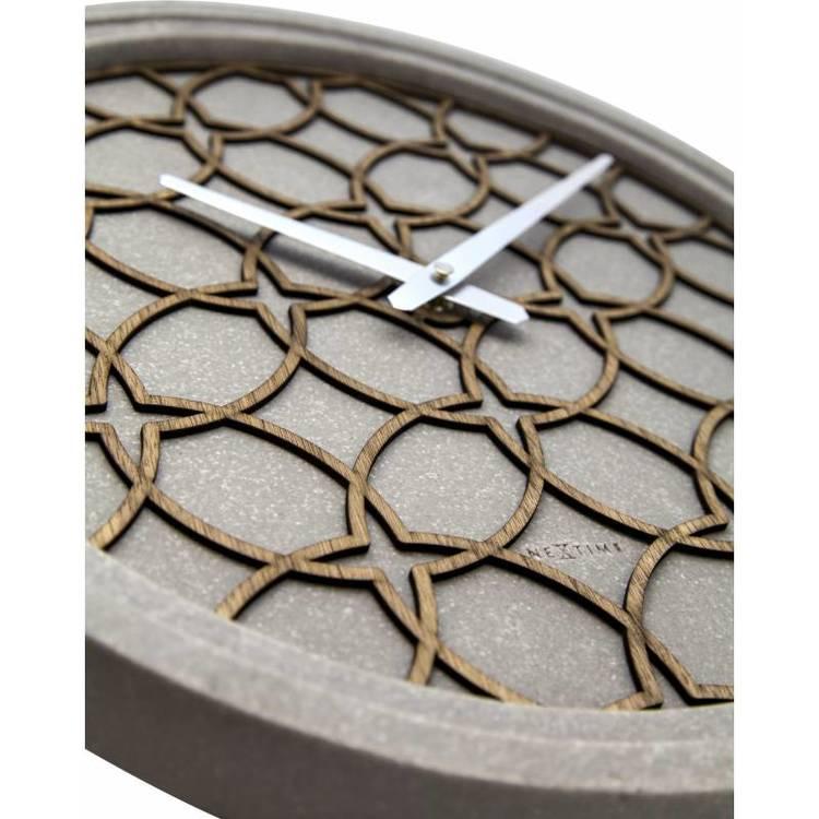 NEXTIME Concreto Love Väggklocka, 39 cm - Grå
