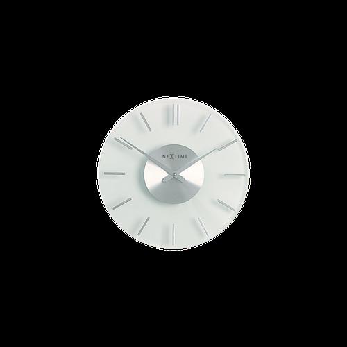 NEXTIME Stripe Väggklocka, 31 cm - Transparent