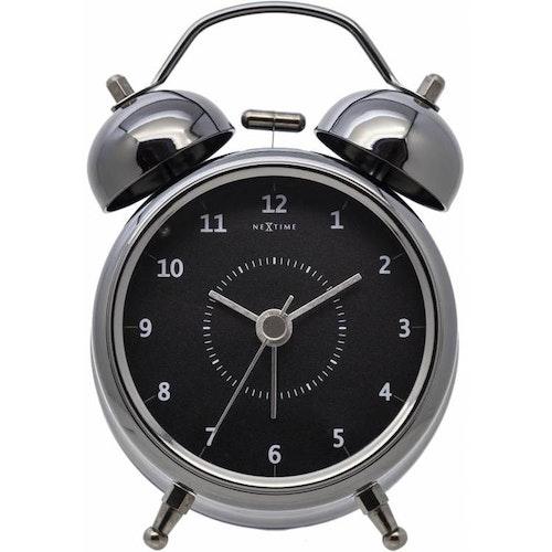 NEXTIME Wake Up Väckarklocka, 9 cm - Svart