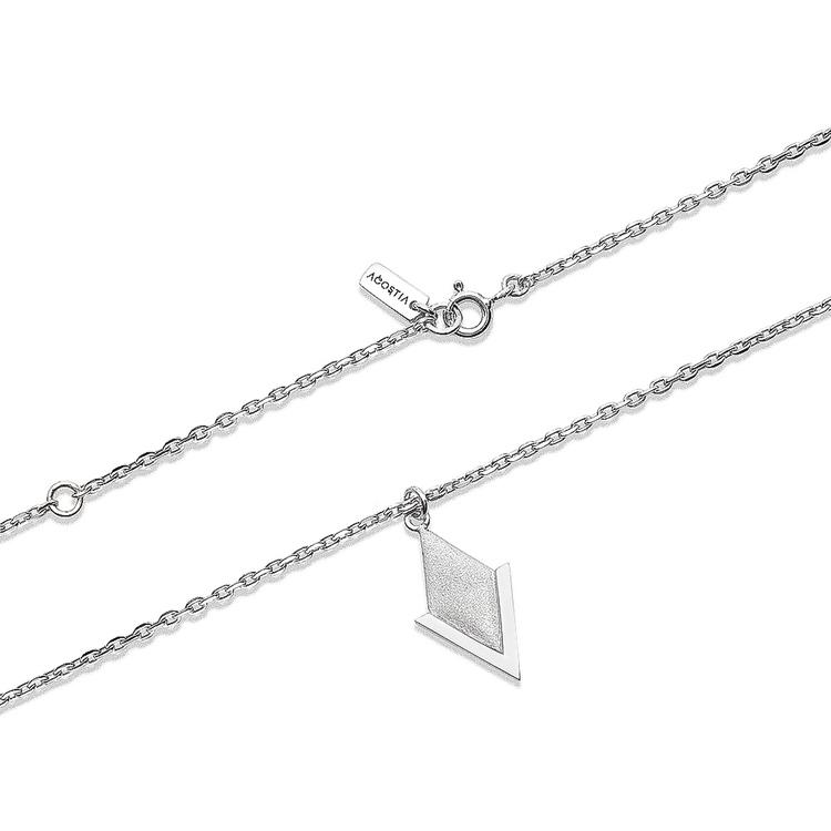 PIL. Halsband litet, vit rhodium