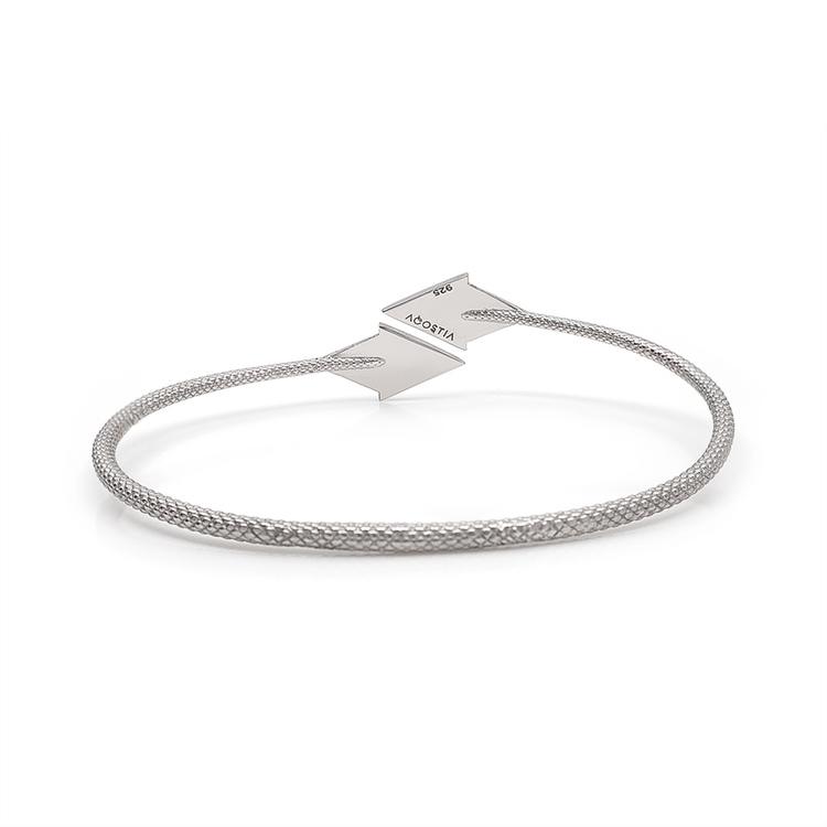 PIL. Armband stort, vit rhodium