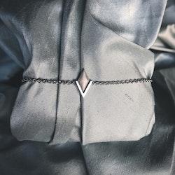 PIL. Armband litet, vit rhodium