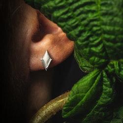 PIL. Örhängen mini, vit rhodium