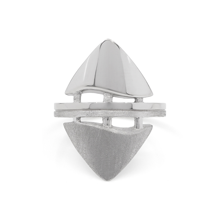 TEMPEL. Ring, vit rhodium