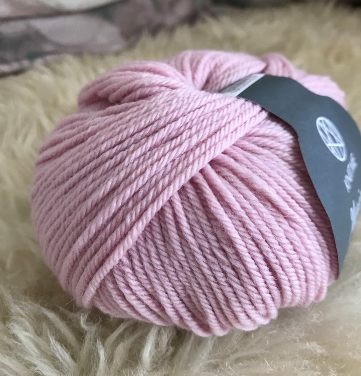 Lys rosa 114 Knitme merinoull