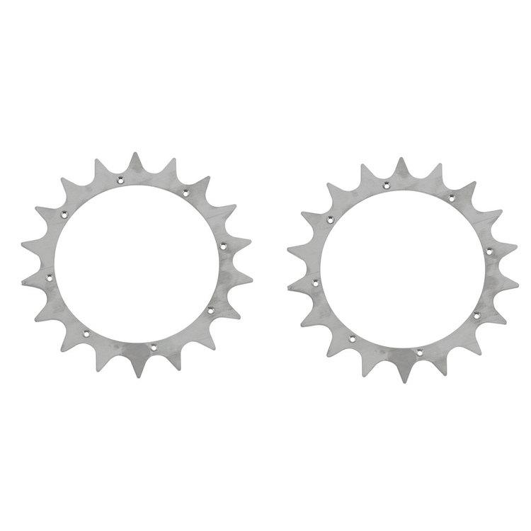 Tandat hjul, spikhjul (par) L30/L200