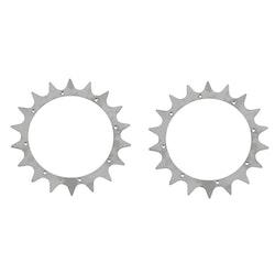 Tandat hjul, spikhjul (par)