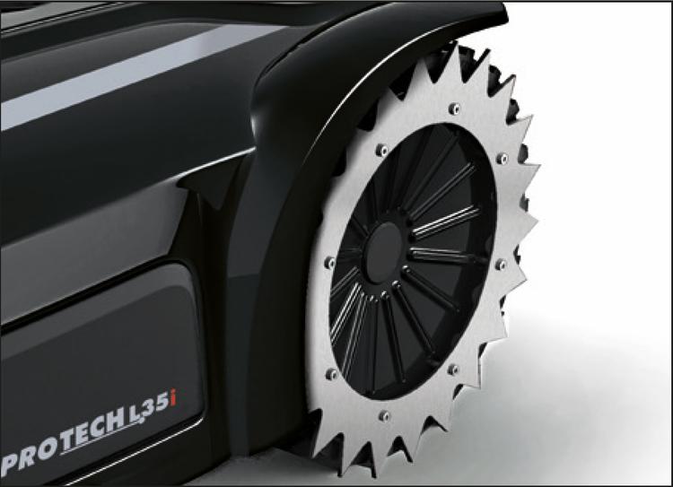 ZCS tandat hjul (rostfritt), spikhjul för hjul med gummidäck (110Z54500A) L250/L350