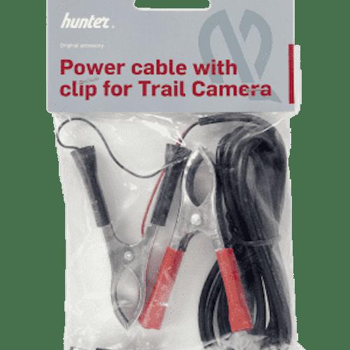 Hunter strömkabel för kamera med klämmor för 12V.