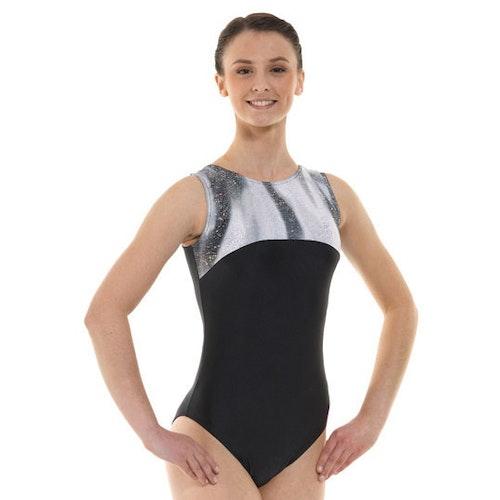 Black & Silver gymnastikdräkt