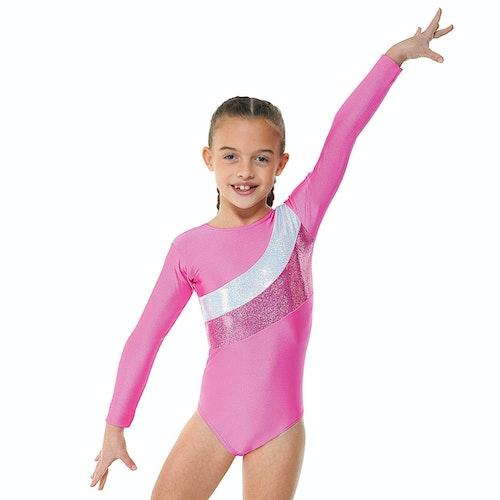 Cosmic Stripe Longsleeve gymnastiksdräkt, Pink