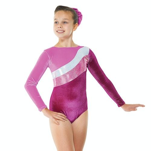 Velvet & Cosmic Shine gymnastikdräkt, Cerise