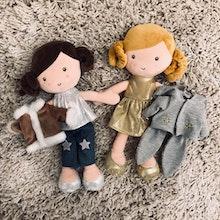 Paket Besties Holly & Tindra, Docka Gosedjur, 30 cm