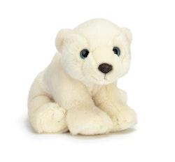 Isbjörn, sittande, liten