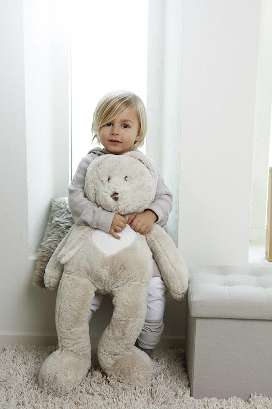 Teddy Cream Kanin, XL, grå