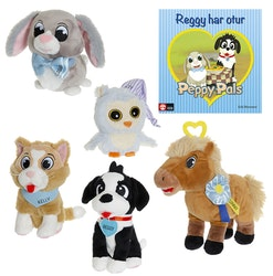 Peppy Pals Paket, 5 figurer + 1 bok
