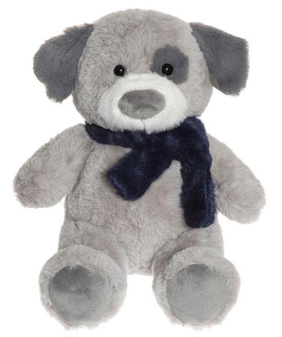 Elvis, Hund Gosedjur, Grå, 35 cm