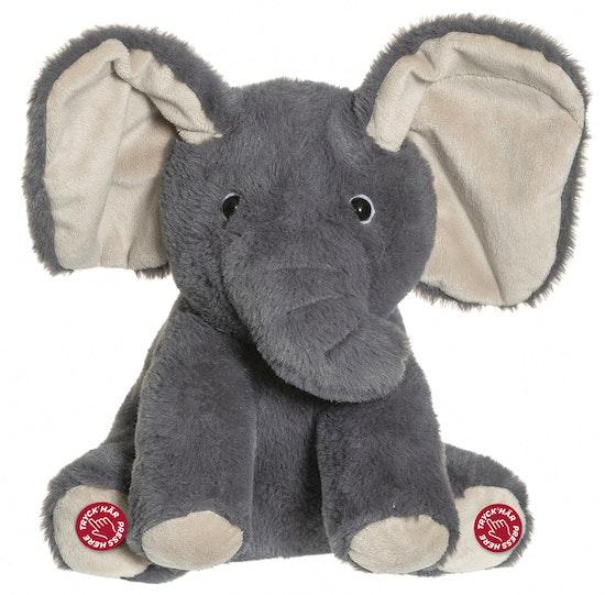 Titt-ut Elefant med ljud, 25 cm