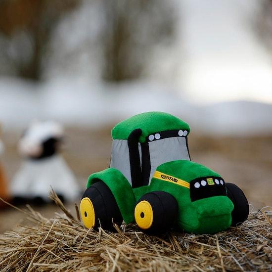 Mjukistraktor Teddy Farm Gosedjur, 18 cm