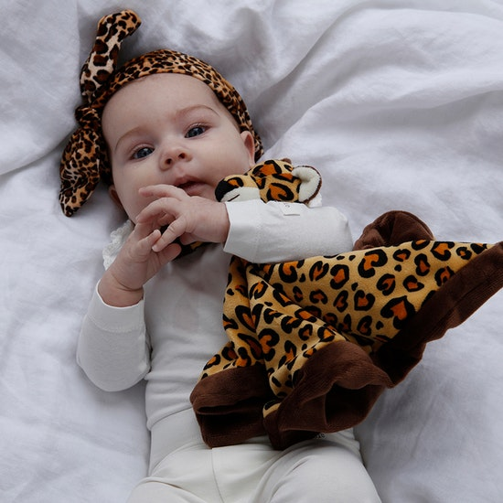 Diinglisar Snuttefilt Leopard, Beige-brun