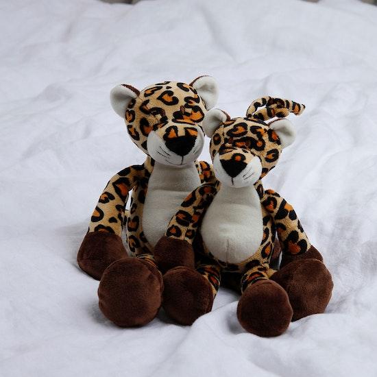 Diinglisar Speldosa Leopard, Beige-brun, 25 cm