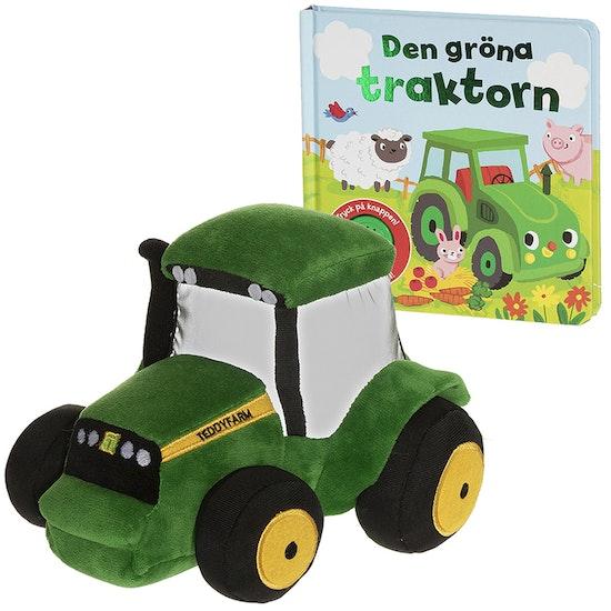 Paket Mjukistraktor & Bok, Teddy Farm Gosedjur, 18 cm