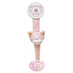 Diinglisar Napphållare Katt, Rosa, 21 cm