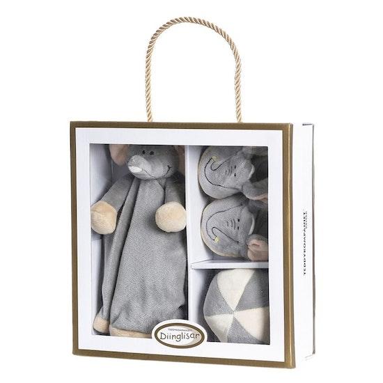 Diinglisar Giftbox Elefant, Grå