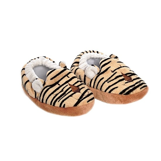 Diinglisar Baby Tofflor Tiger, Svart-gul, 12 cm