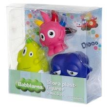 Babblarna- Stora plastfigurer, D-Mix, 3 ol.